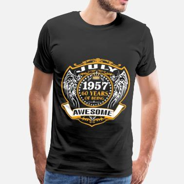1957 July Awesome 1957 60 Years Of Being Awesome July - Men's Premium T-Shirt