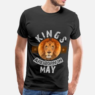 Born In May KING 5 B.png - Men's Premium T-Shirt