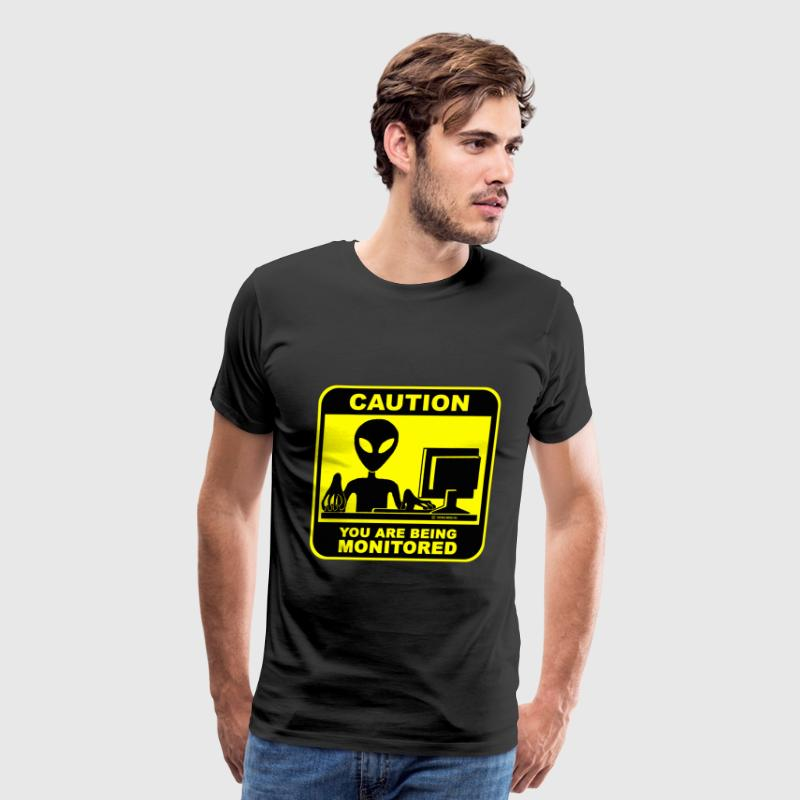 Being monitored - Men's Premium T-Shirt