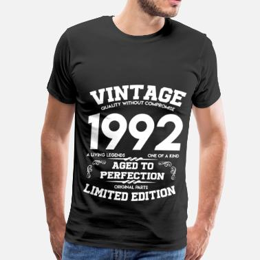92 Birthday 92 b.png - Men's Premium T-Shirt