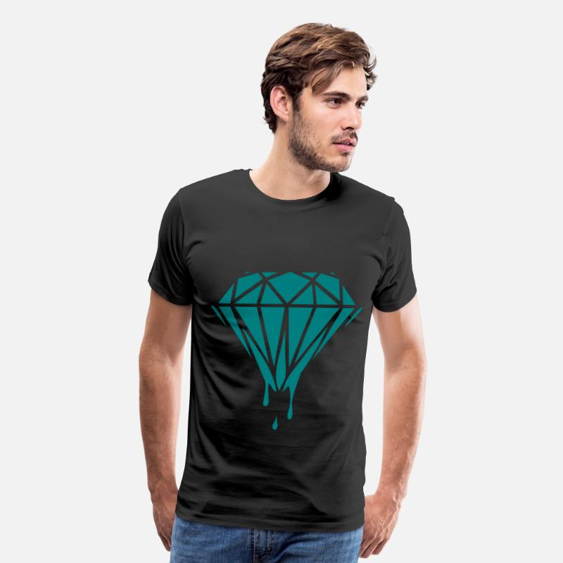 Diamond T-Shirts - dripping diamond - Men's Premium T-Shirt black