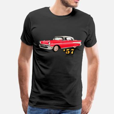 Bel Vehicle - 57 Chery - Red - Men's Premium T-Shirt