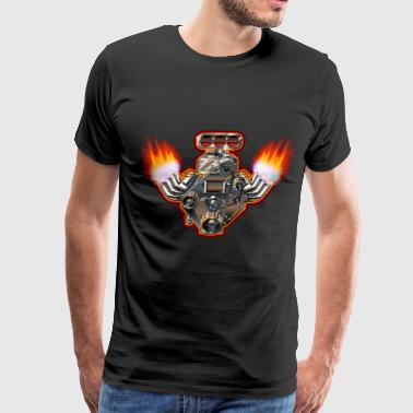 cool car engine design - Men's Premium T-Shirt