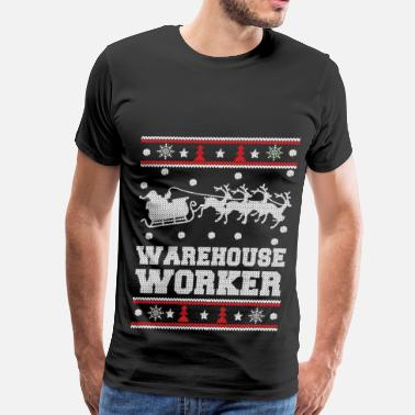 Badminton Warehouse Warehouse worker - Cool christmas worker sweater - Men's Premium T-Shirt