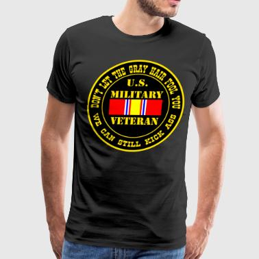 US Military Veteran We Can Still Kick Ass - Men's Premium T-Shirt