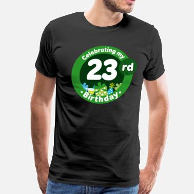 23 Birthday Gift Ideas 23rd Birthday Party 23 - Men's Premium T-Shirt