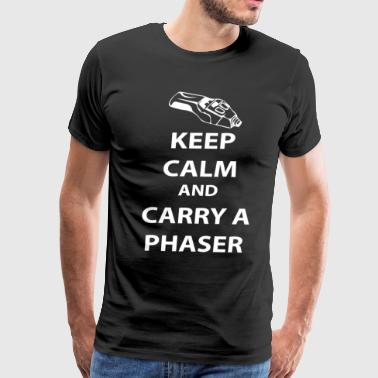 keep calm and carry a phaser - Men's Premium T-Shirt