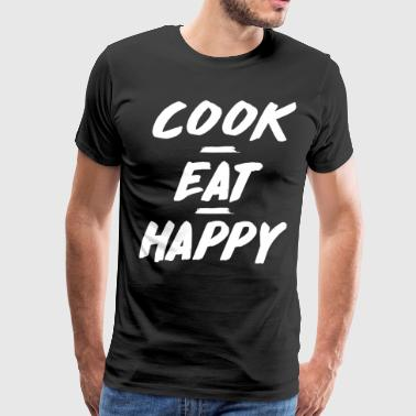 Professional Chef Cook Eat Happy Foodie Professional Chef T-Shirt - Men's Premium T-Shirt