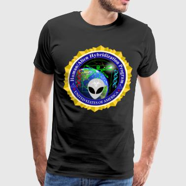Human Alien Hybrid Program Badge - Men's Premium T-Shirt
