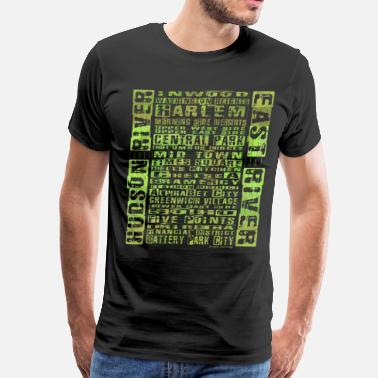 Neighborhood Manhattan NYC Neighborhoods Green - Men's Premium T-Shirt