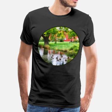Ducks Pond Ducks On Pond - Men's Premium T-Shirt