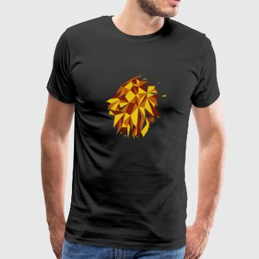 Lion Geometric - Men's Premium T-Shirt