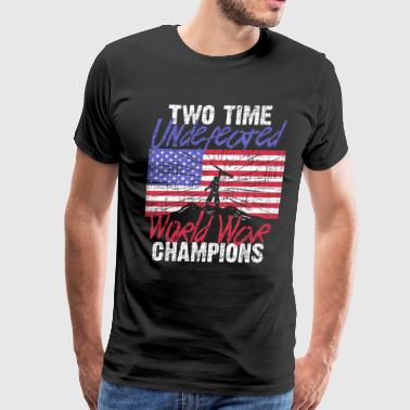 RETIRED ARMY: Undefeated War Champs - Men's Premium T-Shirt