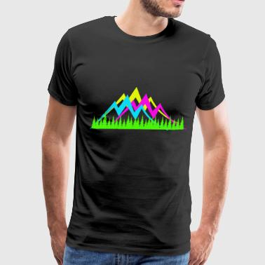 Glowing Mountain - Men's Premium T-Shirt