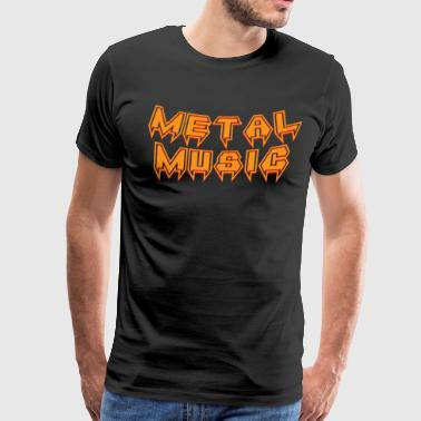 Death Metal Music Stage Dive Head Bang - Men's Premium T-Shirt
