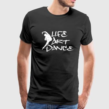 Male Dancer Life Art Dance for dark - Men's Premium T-Shirt