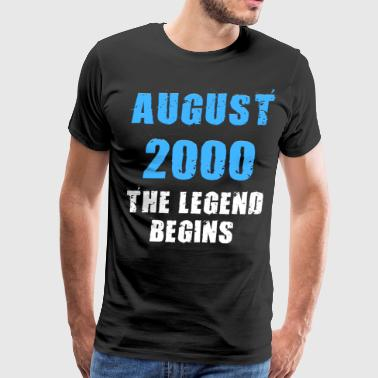 The Best Of 2000 August 2000 The legend begins funny - Men's Premium T-Shirt