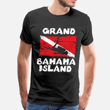 Bahamas Grand Bahama Island Diving Flag funny - Men's Premium T-Shirt
