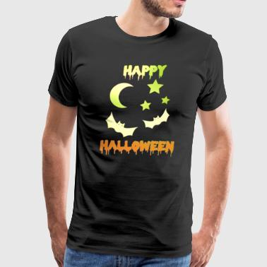Bat Happy Halloween flying bats colorful - Men's Premium T-Shirt
