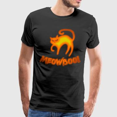 Demonic Halloween fear cat meowboo! colorful - Men's Premium T-Shirt