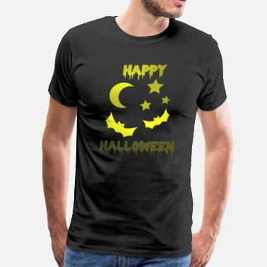 Blues Happy Halloween Night moon stars fear - Men's Premium T-Shirt
