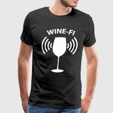 Wine-Fi Wine Drinking Party Glass Funny T-Shirt - Men's Premium T-Shirt