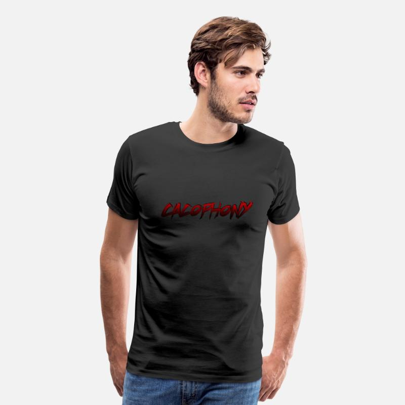 Red T-Shirts - Cacophony - Men's Premium T-Shirt black