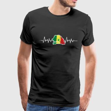 senegal heartlines flag - Men's Premium T-Shirt