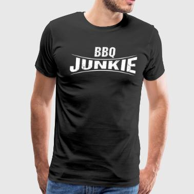 BBQ Junkie Barbeque Logo - Men's Premium T-Shirt