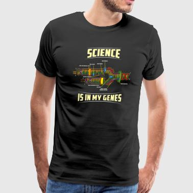 Science Student Biology Science Is In My Genes DNA Teacher Student - Men's Premium T-Shirt