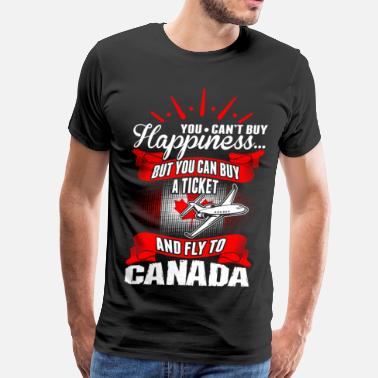 Air Canada You Cant Buy Happiness Fly To Canada - Men's Premium T-Shirt