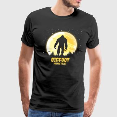 National Colours Bigfoot Hunter Design Funny Sasquatch - Men's Premium T-Shirt