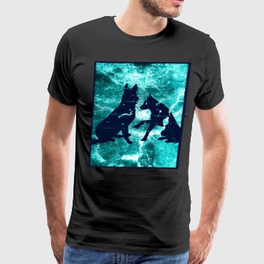 German Shepherd Partner Friends - Men's Premium T-Shirt