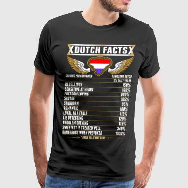 Dutch Funny Dutch Facts Tshirt - Men's Premium T-Shirt