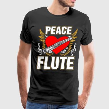 Banjo Peace Love Flute - Men's Premium T-Shirt