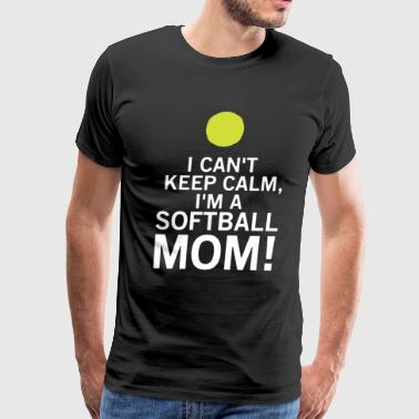 Loud And Proud Softball Mom T-shirt - Men's Premium T-Shirt