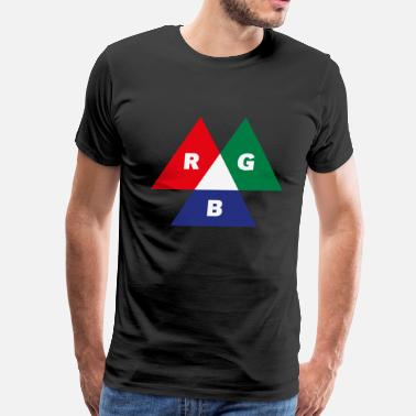 Reds Mode RGB Mode (Red - Green - Blue) PNG - Men's Premium T-Shirt