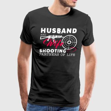 Husband And Wife Shooting Partners Of Life - Men's Premium T-Shirt