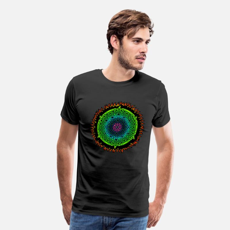 Psychedelic T-Shirts - Orb of Life - Men's Premium T-Shirt black