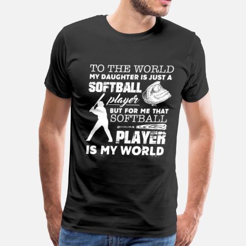 Softball Dad Shirts - Men s Premium T-Shirt. Back. Back. Design. Front d386644f927b