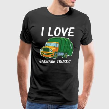 I Love Mum Garbage Rubbish Trash Truck Climate Earth Day Eco - Men's Premium T-Shirt