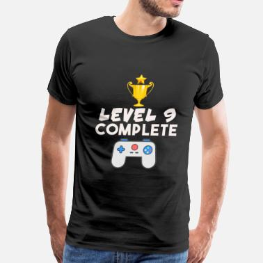 Level 40 Complete Level 9 Complete 9th Birthday Video Gamer Geek - Men's Premium T-Shirt