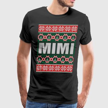 Mimi Ugly Christmas Sweater - Men's Premium T-Shirt
