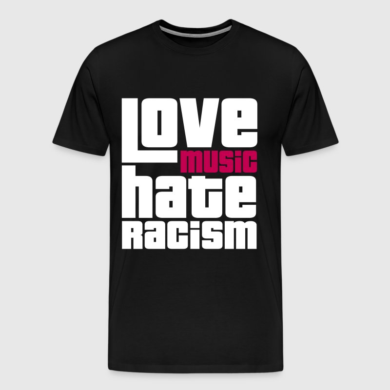 Love Music Hate Racism - Men's Premium T-Shirt