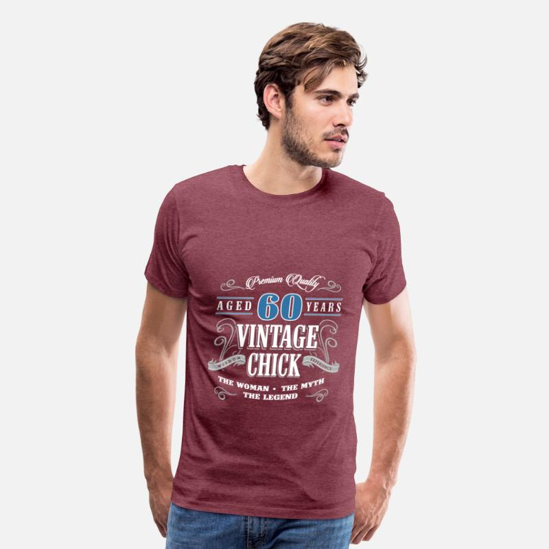 Birthday Gift 60 Years Old Vintage Mens Premium T Shirt