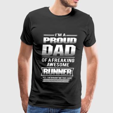 Runner - Proud dad of a freaking awesome runner - Men's Premium T-Shirt