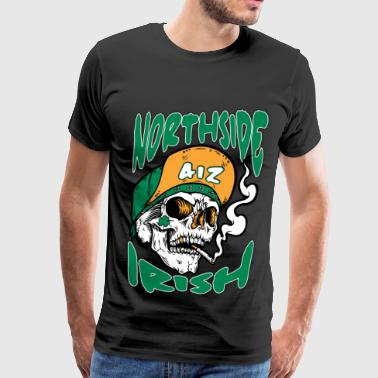 Northside Irish - Smoking Irish skull - Men's Premium T-Shirt