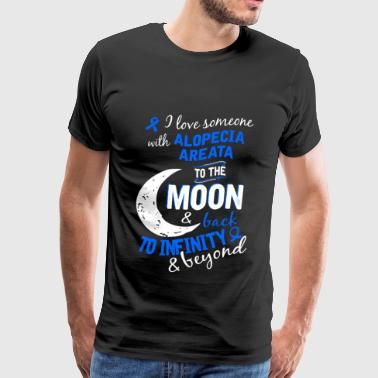 Alopecia areata - I love him to the moon and bac - Men's Premium T-Shirt