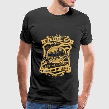 Regensburg Germany - Forever runs through my vei - Men's Premium T-Shirt