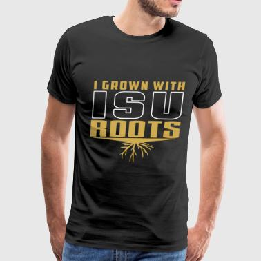 ISU - I grown with ISU roots - Men's Premium T-Shirt